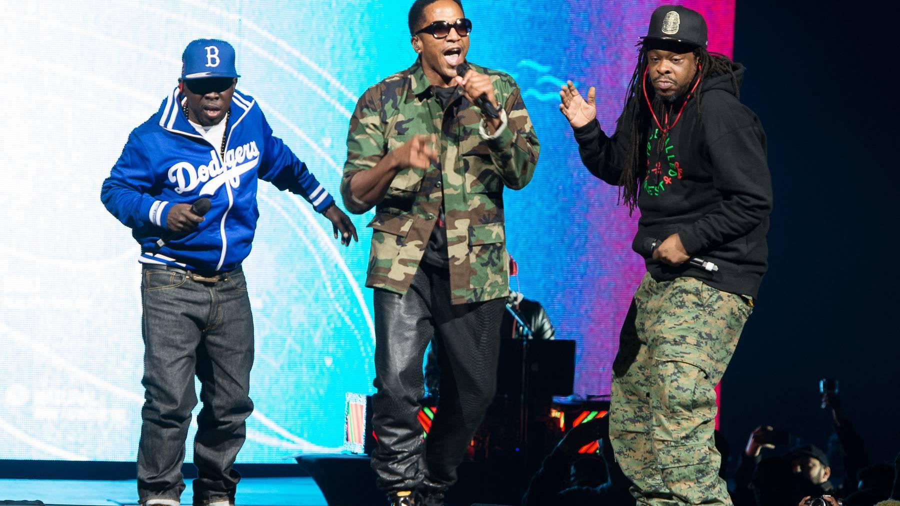 Phife Dawg, Q-Tip und Jarobi bei einem Auftritt von 2013.