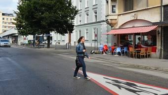 Bleibt am Sonntag vollständig gesperrt: Die Konradstrasse.