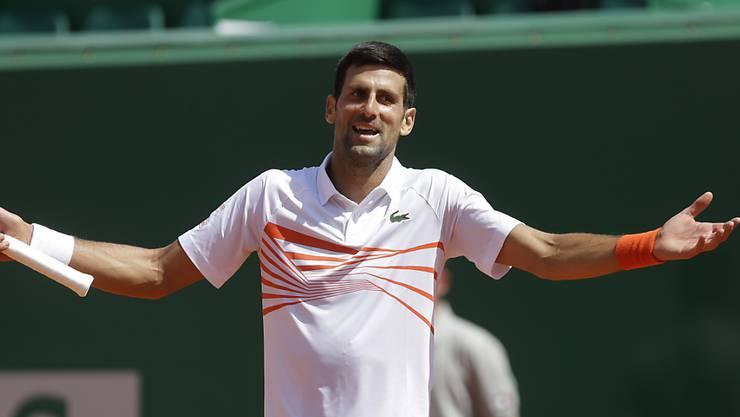 Novak Djokovic muss derzeit auch mit sich selber hadern