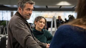 Die letzte Luzerner Tatort-Folge ist in der Redaktion der Luzerner Zeitung gedreht worden. Dabei führten wir ein kurzes Interview mit den Hauptdarstellern – dieses verlief jedoch anders als erhofft.