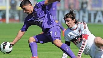 Rutschten in Florenz aus: Milans Captain Riccardo Montolivo und Co.