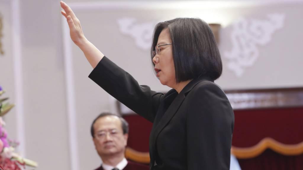 Taiwans Präsidentin Tsai Ing-wen ist am Mittwoch vereidigt worden.