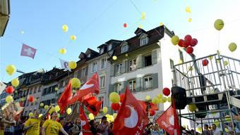 Bei der Demo vor einem Monat in Liestal stand noch das Kantonspersonal im Fokus. Nun wehren sich auch die Gemeinden. (Archiv)