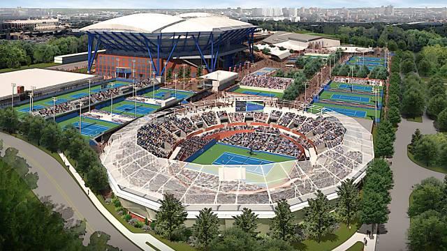 Stadien am US Open sollen ein Dach erhalten.