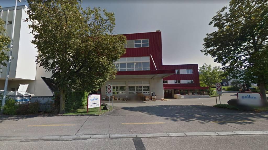 Die Firma Gallus in St.Gallen befindet sich an der Harzbüchelstrasse im Osten der Stadt.