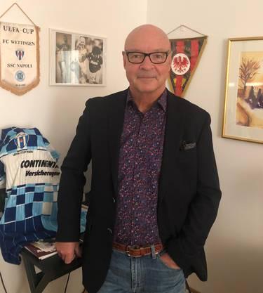 Jan Svensson besitzt immer noch ein Wettingen-Trikot und andere Erinnerungsstücke aus seiner Zeit im Aargau.