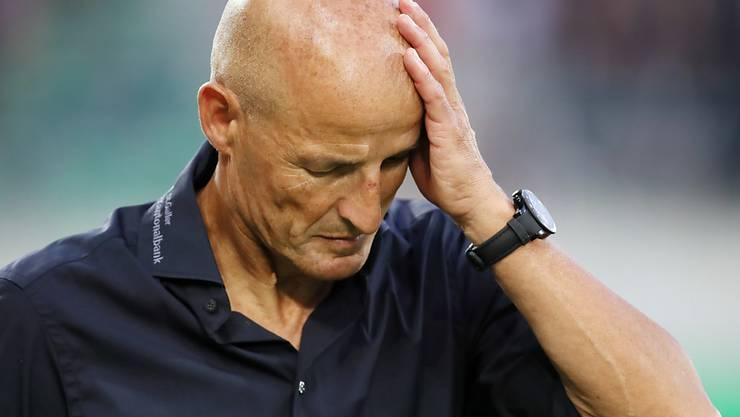 Peter Zeidler ist mit seinem St. Galler Team nicht gut in Form