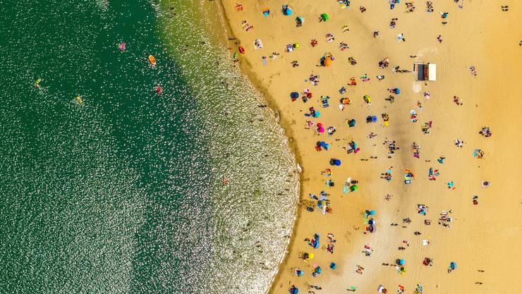 Strandbad am Silbersee II, Haltern am See, Nordrhein-Westfalen, Deutschland.