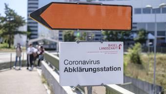 Die Corona-Teststation in Münchenstein wird im November geschlossen.