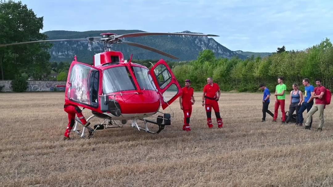Eindrücke von der Rettungsübung des SAC Weissenstein am Grenchenberg zusammen mit der neu in Grenchen stationierten Rega