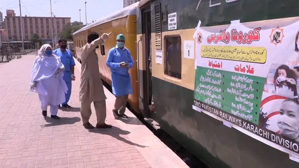 Pakistan rüstet Züge zu Quarantänestationen um