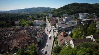 Der Schulhausplatz in Baden wird bald saniert.