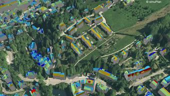 Dachflächen-Eignungskarte der Stadt St.Gallen