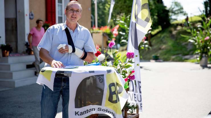Markus Dietschi beim Jubiläumsbrunch zu 5 Jahre BDP Solothurn.