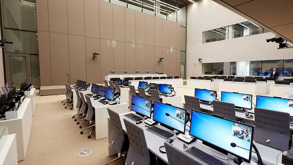 Immer mehr Länder wenden sich vom ICC ab - Blick in den leeren ICC-Gerichtsraum in Den Haag
