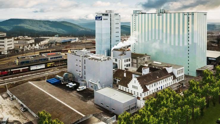 Die Lindt & Sprüngli-Fabrik beim Bahnhof Olten.