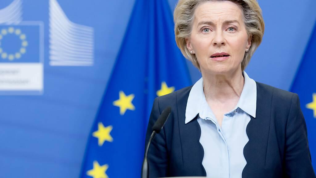 ARCHIV - Ursula von der Leyen ist Präsidentin der Europäischen Kommission. Foto: Etienne Ansotte/European Commission/dpa - ACHTUNG: Nur zur redaktionellen Verwendung und nur mit vollständiger Nennung des vorstehenden Credits