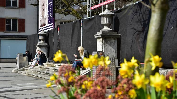 Frühlingserwachen in Olten: Temperaturen gegen 20 Grad Celsius liessen erste Frühlingsgefühle aufkommen