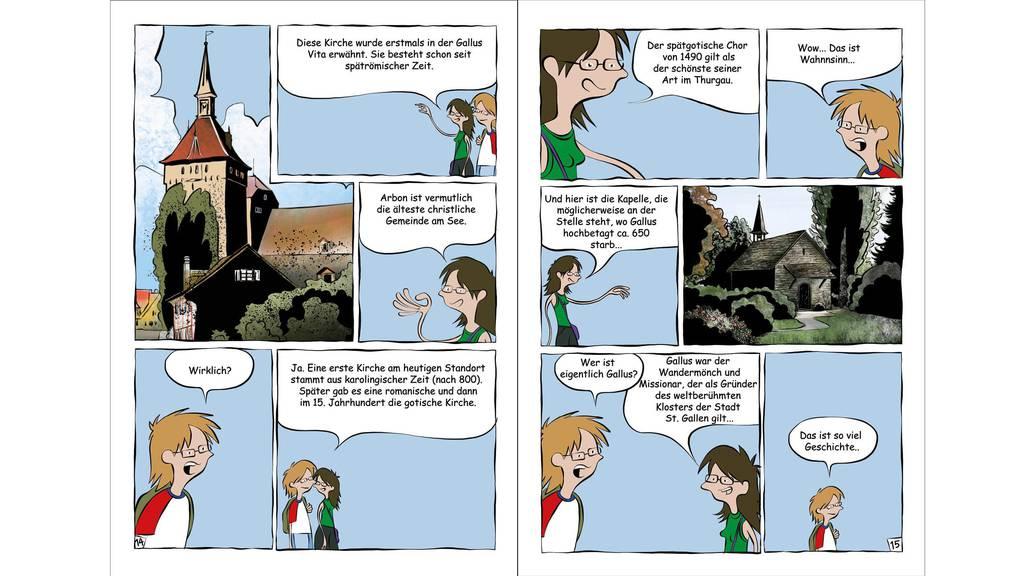 Der Comic thematisiert die historischen Hintergründe von Arbon. (Bild: zVg)