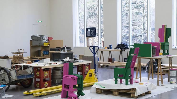 """Das Kunsthaus Zürich zeigt vom 16. Februar bis 25. März 2018 die Ausstellung """"Abraham Cruzvillegas.  Autorreconstrucción: Social Tissue""""."""