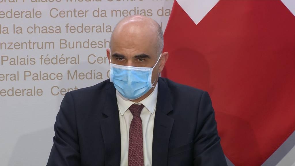 """Bundesrat Berset: """"Abwägen ist manchmal fast unmöglich"""""""