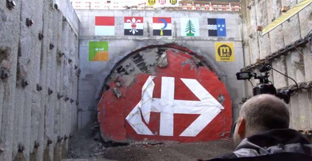 Der Durchstich am Eppenbergtunnel im Zeitraffer