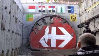 Die Tunnelbohrmaschine in 10-facher Geschwindigkeit.