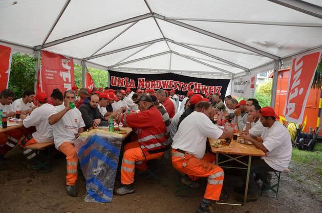 Die Gewerkschaft Unia hatte zum Protest aufgerufen.