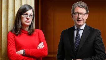 Debatte zwischen Silvia Schenker und Heinz Brand