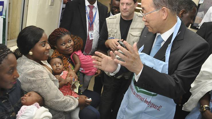 UNO-Generalsekretär Ban Ki Moo will bei Vollversammlung einen Fokus auf das Flüchtlingsthema (Archivbild)