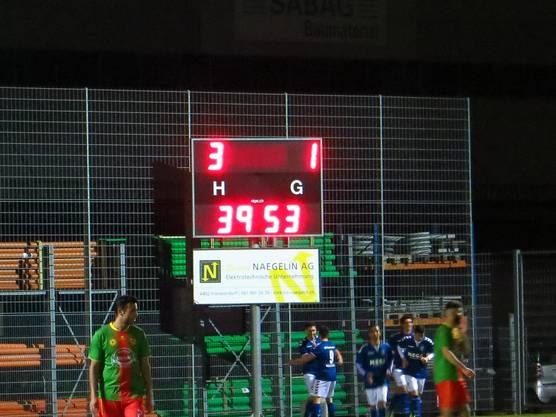Das 3 : 1 in der 39.Minute für den FC Frenkendorf, so ging man in die Pause