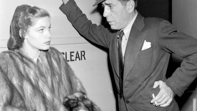 Im Tod vereint: Lauren Bacall mit Ehemann Humphrey Bogart (Archiv)