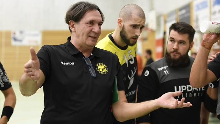 Otmars-Trainer Zoltan Cordas darf sich über einen deutlichen Sieg gegen seinen ehemaligen Arbeitgeber TV Möhlin freuen.