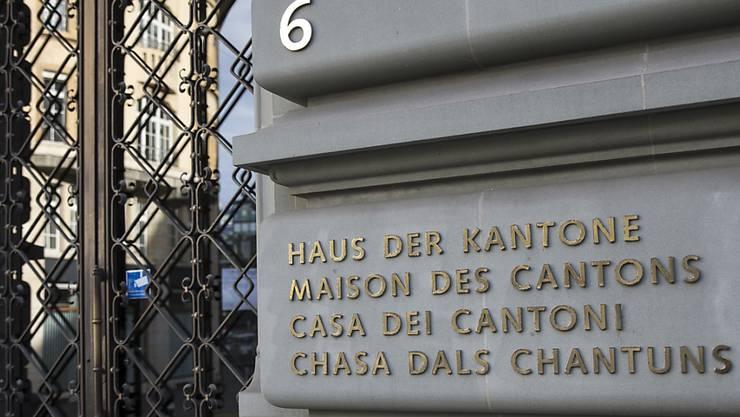 Die Kantonsregierungen haben bis Ende März Zeit, eine Stellungnahme zum Entwurf eines Rahmenabkommens mit der EU abzugeben. (Archiv)