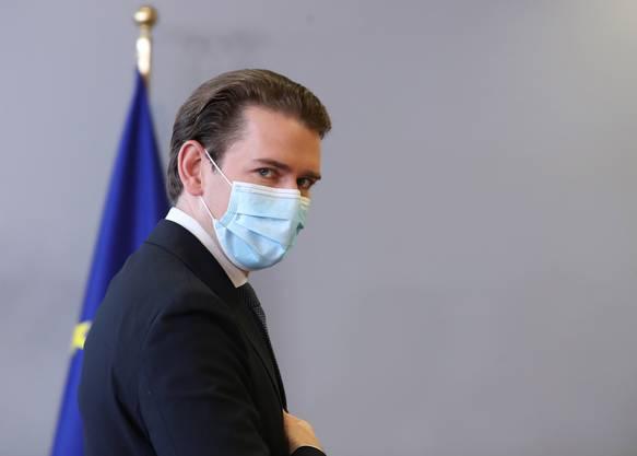 Auch Österreichs Kanzler Sebastian Kurz kann a us Corona keinen Gewinn ziehen. (Bild: Keystone)