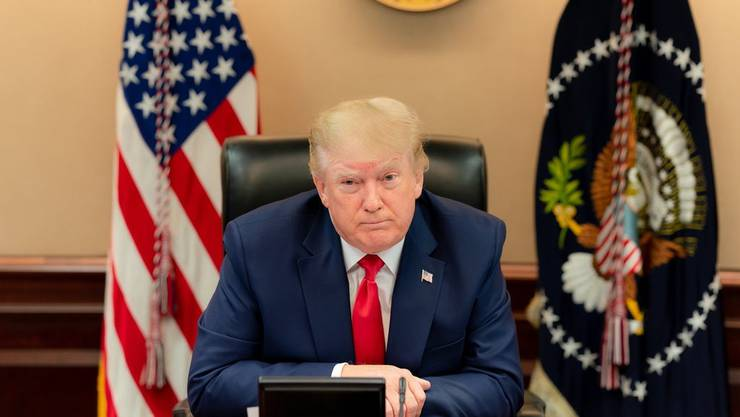 US-Präsident Donald Trump leitet die Amtsübergabe ein.