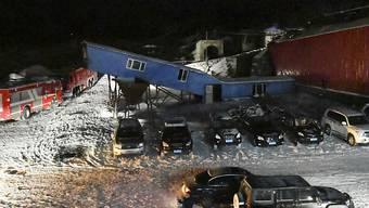 Der Eingang der Kohlemine in Qitaihe: Hier starben bei einem Bergwerksunglück mindestens 21 Menschen.