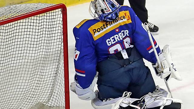 Klotens Goalie Martin Gerber hat im Penaltysschiessen das Nachsehen