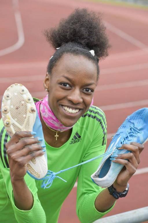 Die Hürdenläuferin sorgte an der U20-EM in Italien für einen Exploit... (© Tagblatt/Donato Caspari)