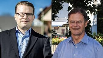 Roger Lehner (links) ist Gemeindeammann von Attelwil. Der Steuerfuss in seiner Gemeinde soll laut Regierungsvorschlag um 27 Prozent steigen. Walter Dubler ist Gemeindeammann von Wohlen. Dort soll der Steuerfuss gemäss Regierungsvorschlag um 10 Prozent sinken.