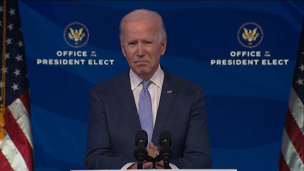 «Angriff auf die Demokratie»: Joe Biden verurteilt Sturm aufs Kapitol