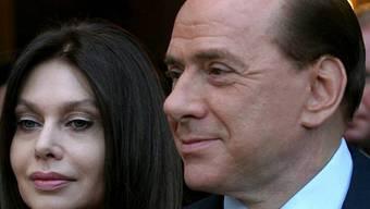 Silvio Berlusconi mit Ehefrau Veronica Lario (Archiv)