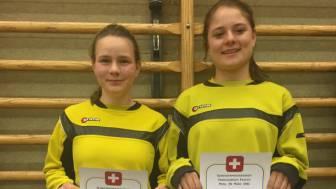 Sabrina Dobler und Laetitia Muespach an den Schweizermeisterschaften.