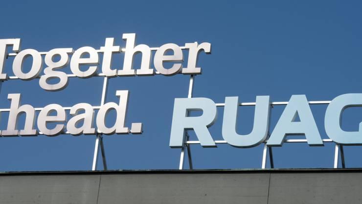 Das Logo der Ruag. Beim bundeseigenen Rüstungskonzern wurden mehr als 20 Gigabyte Daten entwendet.