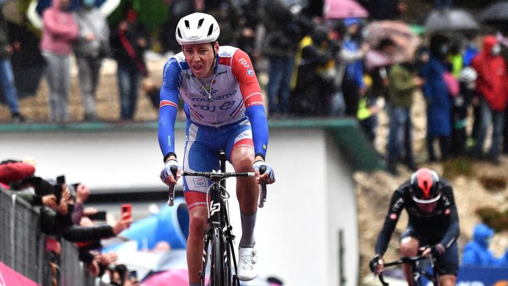 Kilian Frankiny beendet zum zweiten Mal am diesjährigen Giro eine Etappe in den Top 5