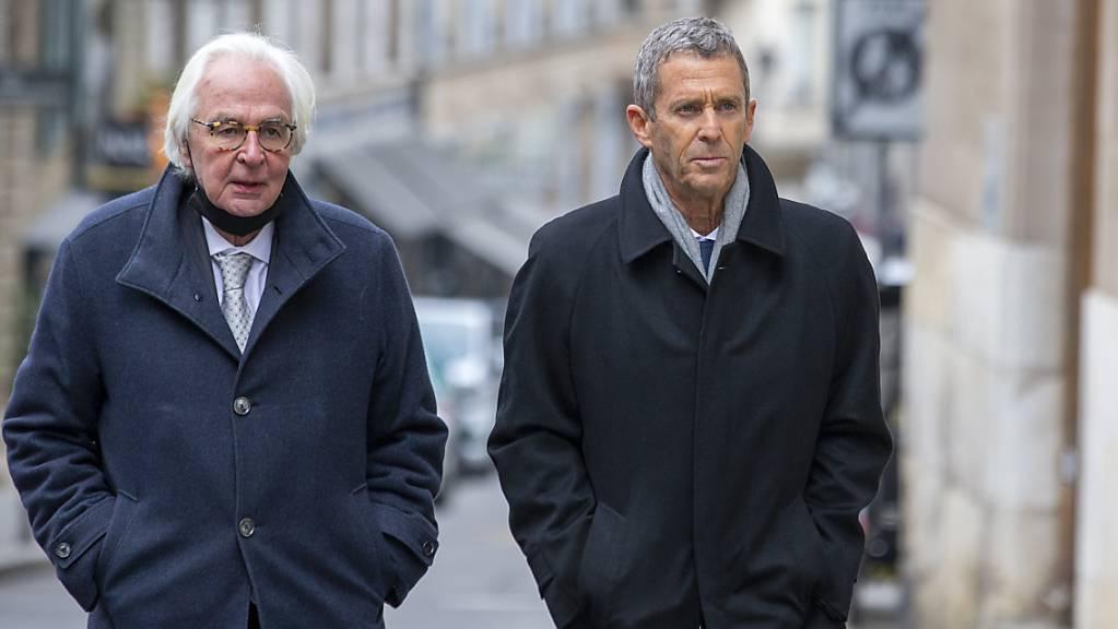 Der Genfer Prozess um Beny Steinmetz (rechts) erregte internationale Medienaufmerksamkeit.
