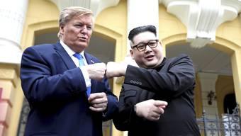 Doppelgänger von Trump und Kim treffen sich