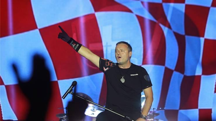 Marko Perkovic alias Thompson sollte am 3.September in Schlieren auftreten – der Stadtrat verbot jedoch das Konzert. Foto: imago/Pixsell