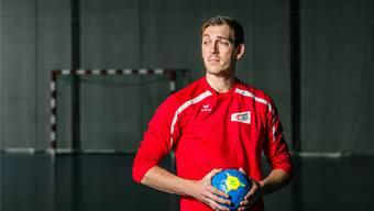 Teamstütze bei Pfadi Winterthur und in der Schweizer Nationalmannschaft: Marvin Lier in der GoEasy-Arena. Sandra Ardizzone