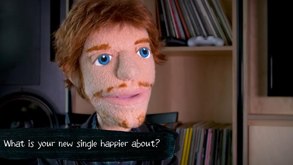 Wie ist es, mit einem Ballon-Mädchen zu flirten, Ed Sheeran?